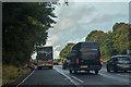 SJ9220 : Hyde Lea : M6 Motorway by Lewis Clarke