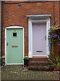 SP0957 : Doorways in Malt Mill Lane by Rod Allday