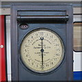 TQ0584 : Weighing machine on Uxbridge tube station - detail (2) by Mike Quinn