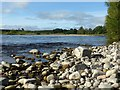 NJ3464 : River Spey by the Speymouth Viaduct by Alan Murray-Rust