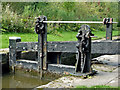 SJ9689 : Marple Locks No 5 top gate, east of Stockport by Roger  Kidd
