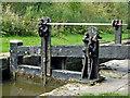 SJ9689 : Marple Locks No 5 top gate, east of Stockport by Roger  Kidd