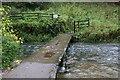 SK2063 : Clapper Bridge over the River Bradford by Chris Heaton
