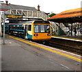 ST1586 : Bargoed train leaving Caerphilly station by Jaggery
