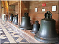 SO8454 : A Collection of Old Bells, Worcester Cathedral by David Dixon