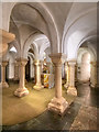 SO8554 : Worcester Cathedral Crypt by David Dixon