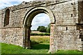 SJ8207 : Archway in White Ladies Priory by Jeff Buck