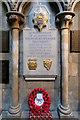 SO8554 : War Memorial, Worcester Cathedral by David Dixon