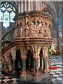 SO8454 : Worcester Cathedral, Nave Pulpit by David Dixon