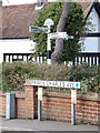 TQ6482 : Roadsign on Prince Charles Avenue by Geographer
