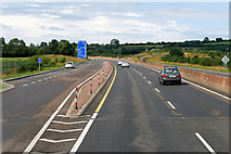 S1586 : Layby on the Westbound M7 near Nore Bridge by David Dixon