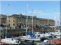 NJ2371 : Lossiemouth harbour, former warehouses by Alan Murray-Rust