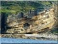 NJ1770 : Cliffs below the Gordonstoun Tower by Alan Murray-Rust