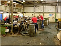 NJ2944 : Speyside Cooperage, main workshop by Alan Murray-Rust
