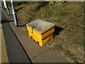 TL7818 : Grit Bin at White Notley Railway Station by Adrian Cable