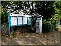 ST1580 : Information boards and ticket machine on Whitchurch (Cardiff) station by Jaggery