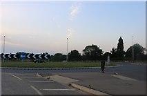 TL0250 : Roundabout on the A6, Biddenham by David Howard