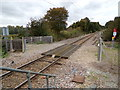 TL7818 : Farm Level Crossing at White Notley Railway Station by Adrian Cable