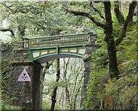 SH6441 : Railway Bridge at Tan-y-Bwlch by Gerald England