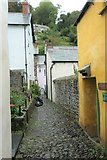 SS3124 : A Clovelly Passageway by Peter Jeffery