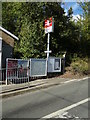 TL7818 : White Notley Railway Station sign by Adrian Cable