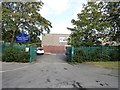 NZ2052 : Entrance to Burnside Primary School by Robert Graham