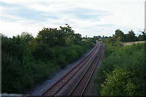 TM3964 : Railway line heading north from Saxmundham by Christopher Hilton