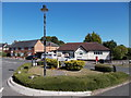 TL0215 : Traffic island at Studham by Peter S