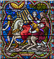 SK9771 : Stained glass window detail, Lincoln Cathedral by Julian P Guffogg