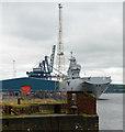 NS2876 : French warship Tonnerre (L9014) at Greenock Ocean Terminal by Thomas Nugent