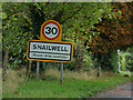 TL6467 : Snailwell Village Name sign on Fordham Road by Adrian Cable