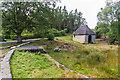 NU0801 : Blackburn Dam and boathouse by Ian Capper