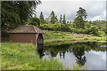 NU0702 : Boathouse, Nelly's Moss North Lake by Ian Capper