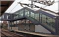 TQ4185 : Covered stairway, Manor Park Station by Derek Harper