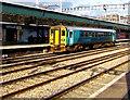 ST3088 : Single coach train at platform 2, Newport station by Jaggery