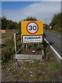 TL9227 : Fordham Village Name sign on Mill Road by Adrian Cable