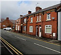SJ2863 : Row of brick houses, Chester Road, Buckley by Jaggery