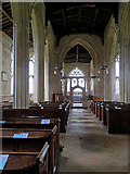 TL3852 : Harlton: nave, aisles and chancel by John Sutton