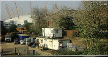 TQ3980 : Skip hire firm, Thames Wharf by Derek Harper