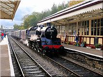 SD8010 : Steam Train at Bolton Street Station by David Dixon