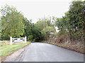 TL8934 : Entering Bures Hamlet on Lamarsh Hill by Geographer