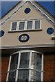 TM0458 : Stowmarket: gable on shop in Bury Street by Christopher Hilton