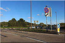 TQ7571 : Four Elms Roundabout, Chattenden by David Howard