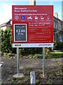 TL9033 : Bures Railway Station car park sign by Adrian Cable