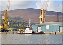 J1418 : Floating crane barge at Warrenpoint by Eric Jones
