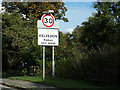 TL8517 : Kelvedon Village Name sign on the B1024 London Road by Adrian Cable