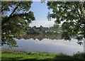SZ5491 : View across Old Mill Pond towards Kite Hill by Paul Coueslant