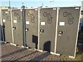 NO3714 : Cycle lockers at Cupar Station by Oliver Dixon