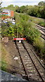 SO5058 : Railway siding alongside the Welsh Marches Line, Leominster by Jaggery
