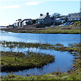 SH3568 : Houses beside the Afon Ffraw, Anglesey by Robin Drayton